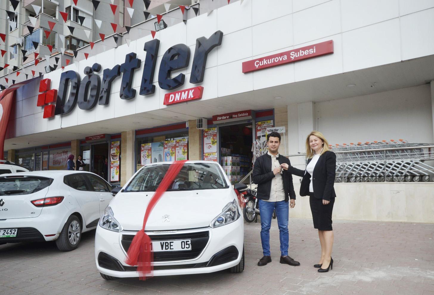 Dörtler DNMK  Marketçilik'teki alışveriş otomobil kazandırdı