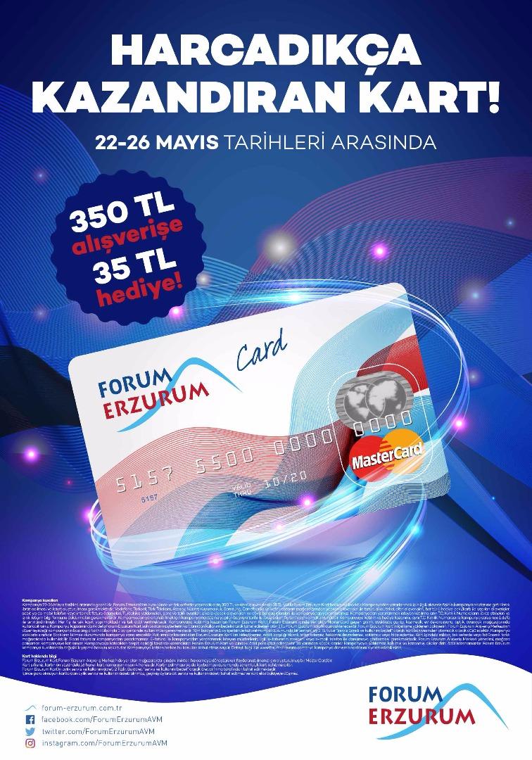 Forum Erzurum'dan hediye kart