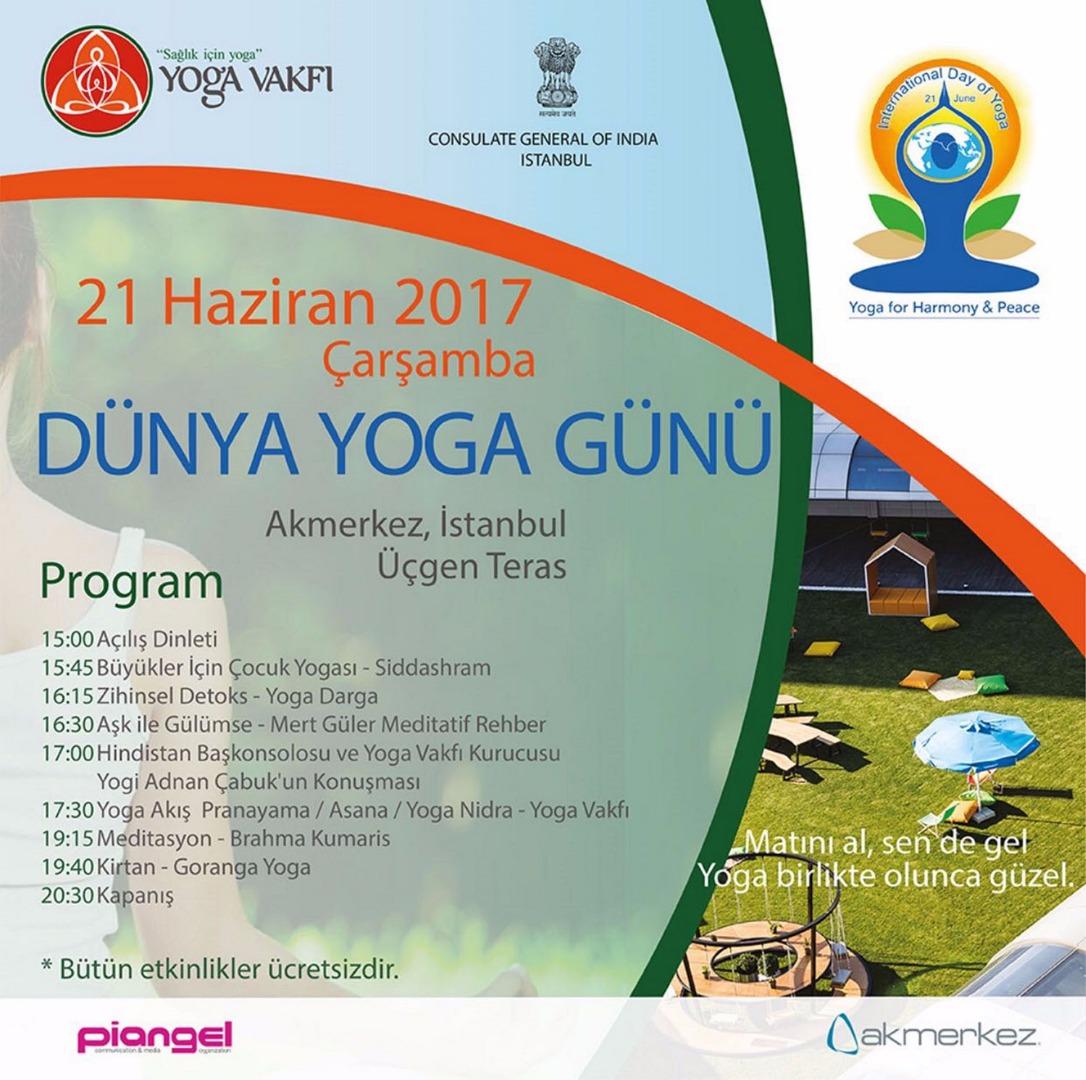 """""""Dünya Yoga Günü"""" Akmerkez'de kutlanacak"""