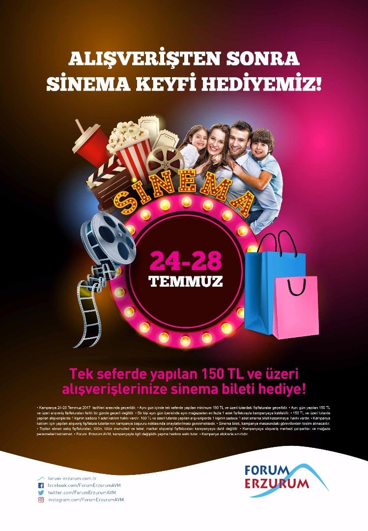 Alışverişten sonra sinema keyfi Forum Erzurum'dan