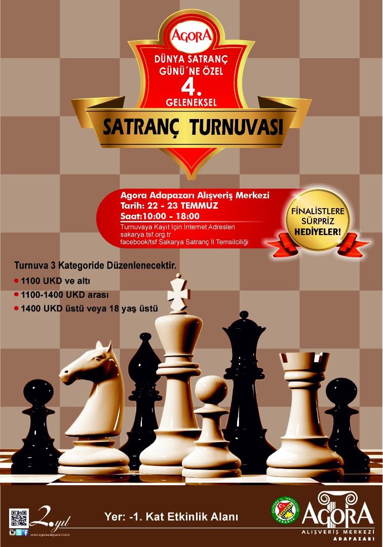 Dünya Satranç Günü'ne özel turnuvalar Agora AVM'de!