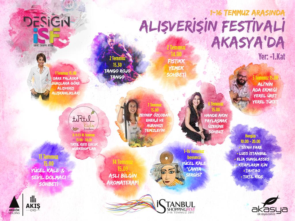 Akasya'da alışverişte festival başladı
