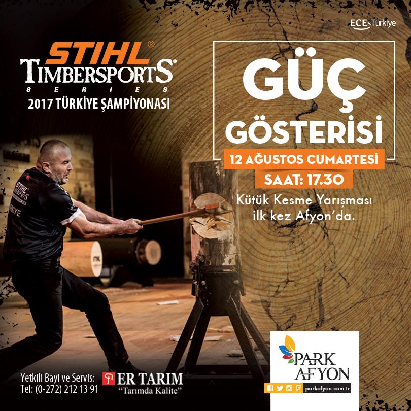 """""""STIHL Timbersports Türkiye Şampiyonası"""" Park Afyon'da"""