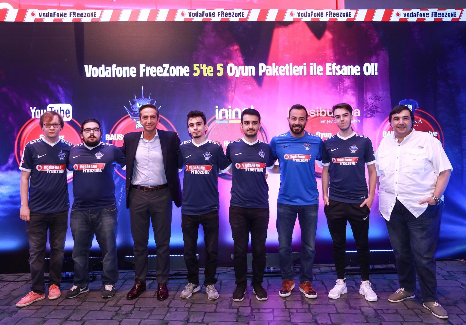 Vodafone FreeZone'dan espor pazarına büyük destek!
