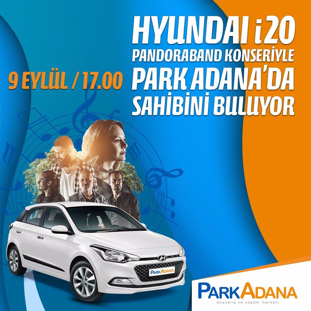Park Adana talihlisi Pandora Band konseriyle belirlenecek