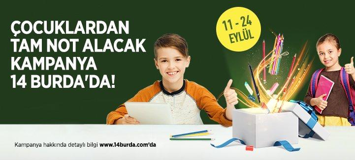 Çocuklardan tam not alacak kampanya 14 Burda'da