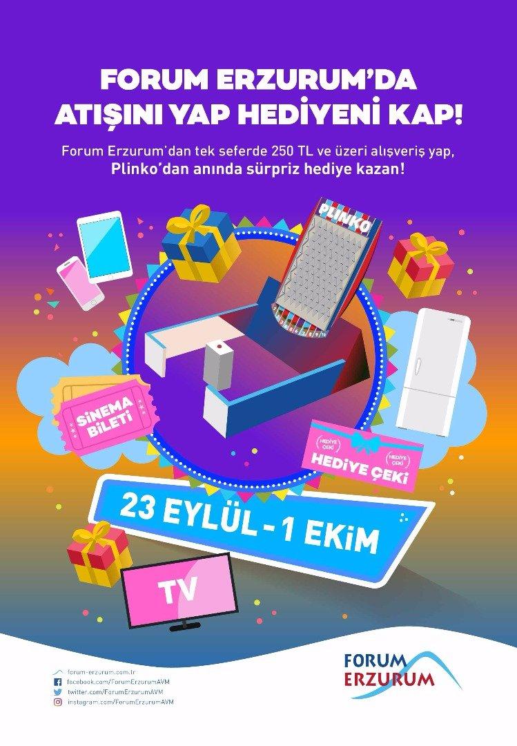 Forum Erzurum'da atışını yap, hediyeni kap!