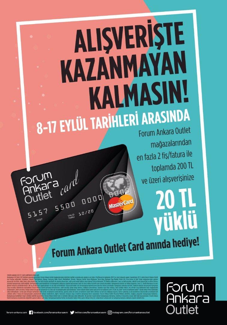 Forum Ankara alışverişleriyle herkes kazanacak