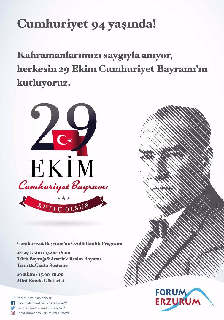 Tüm çocuklar 29 Ekim'de Forum Erzurum'a davetli