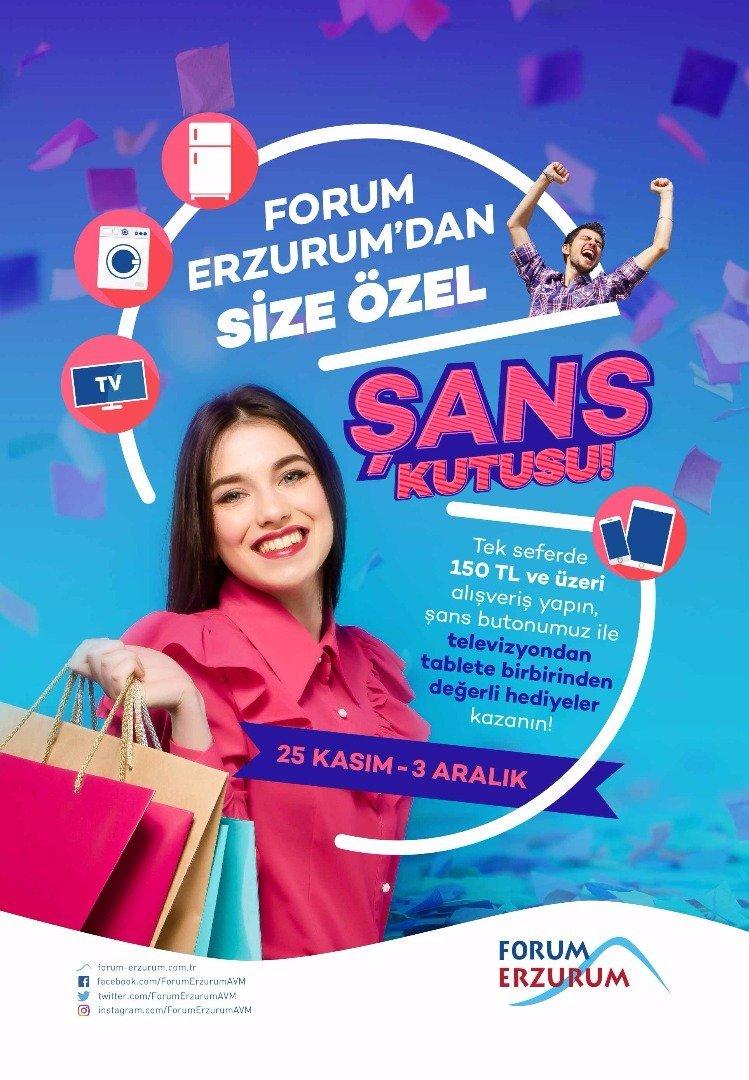 Forum Erzurum'dan kutu kutu hediye!