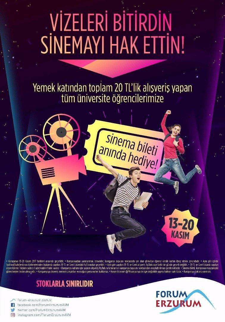 Sınav stresine çare Forum Erzurum!