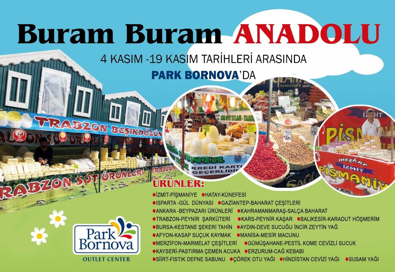 """Park Bornova'da """"Buram Buram Anadolu"""" esiyor"""
