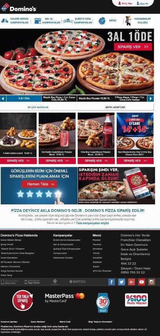 Domino's'un dijital satış rakamı 5,6 milyar TL