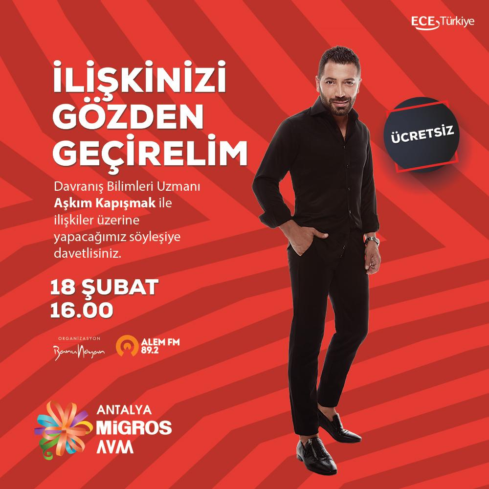 Aşkım Kapışmak 18 Şubat'ta Antalya Migros AVM'de