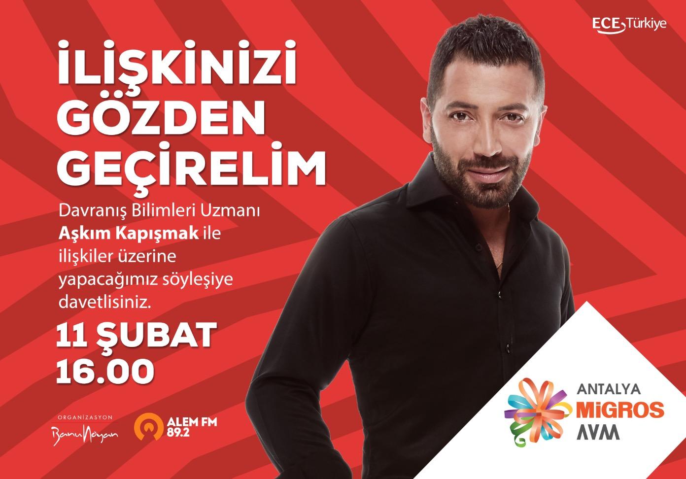 Aşkım Kapışmak 11 Şubat'ta Antalya Migros AVM'de