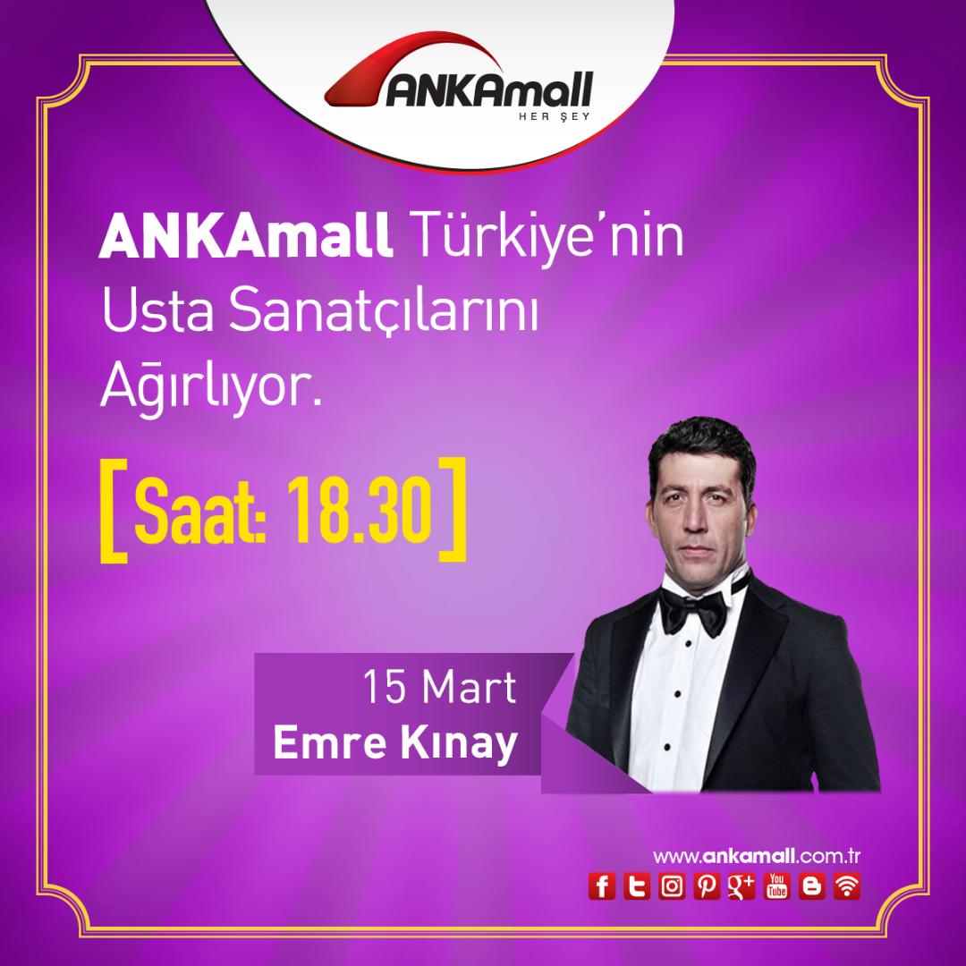 Emre Kınay 15 Mart'ta Ankaralılarla buluşacak