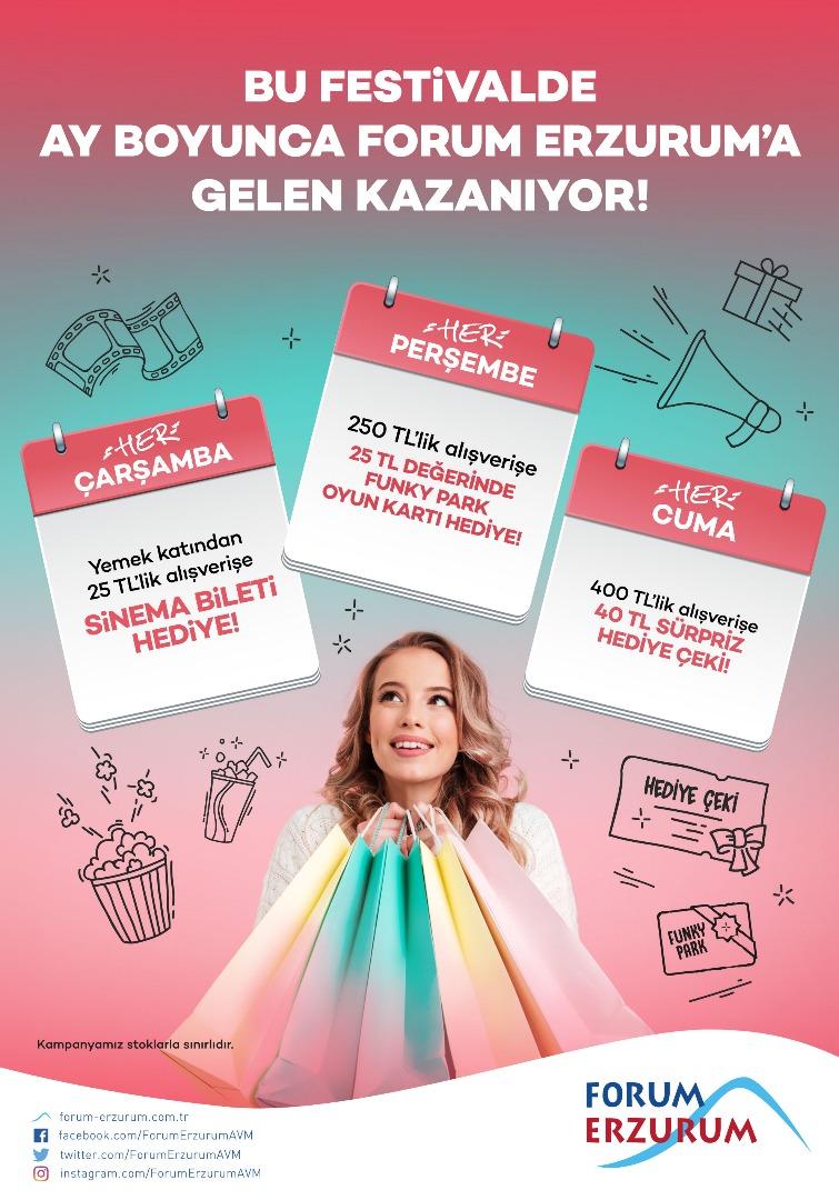 Forum Erzurum'dan festival gibi kampanya!
