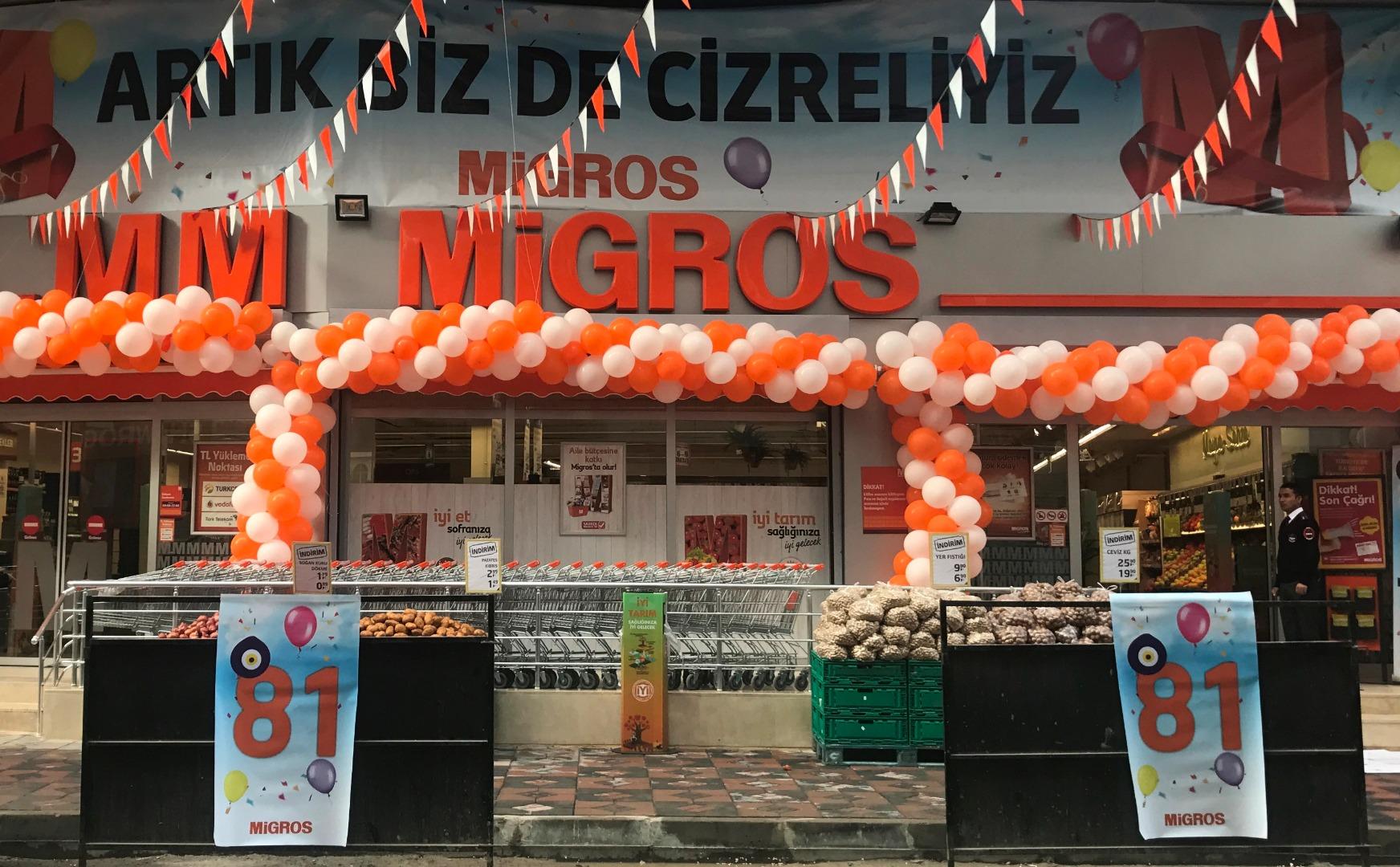 Migros artık tüm Türkiye'de!
