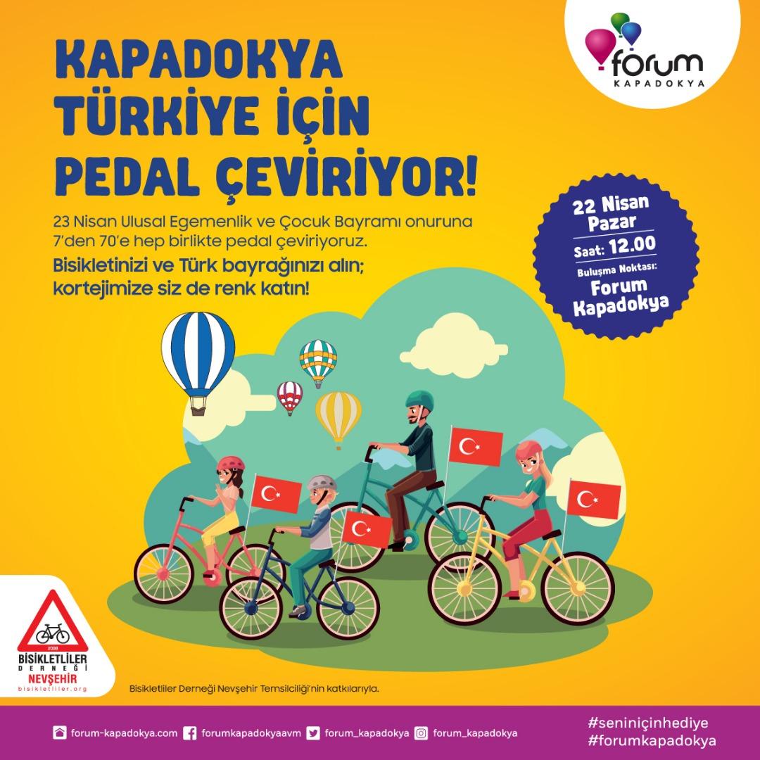 Forum Kapadokya, Bisikletliler Derneği'yle el ele