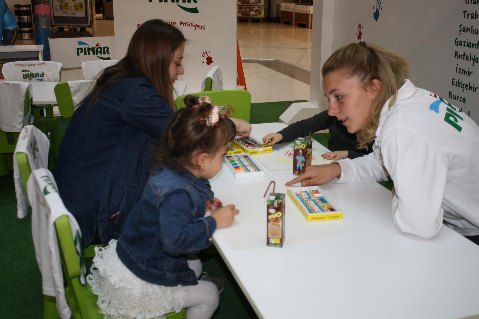 Kent Meydanı AVM çocukları resim yarışmasında buluşturdu