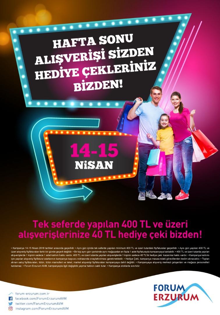 Forum Erzurum'da kazançlı haftasonu alışverişi