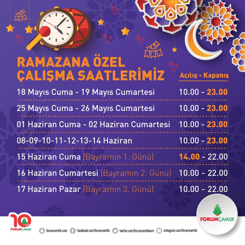 Ramazan'ın tatlı ezgileri, Forum Çamlık'ta hayat bulacak