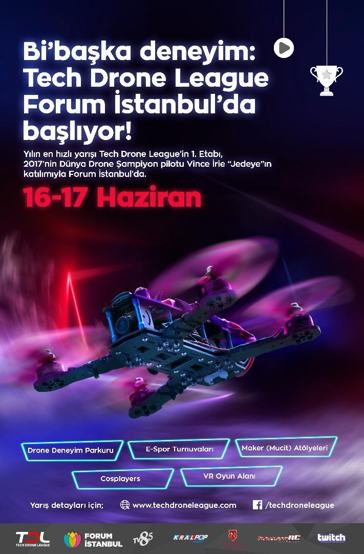 Tech Drone Ligi'nde bu yıl Forum İstanbul'da dünya rekoru kırılacak