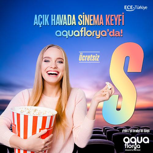 Açık hava sineması keyfi yaz boyunca Aqua Florya'da