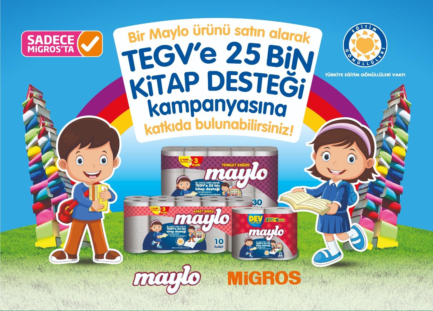 Maylo ve Migros'tan kitap kampanyası