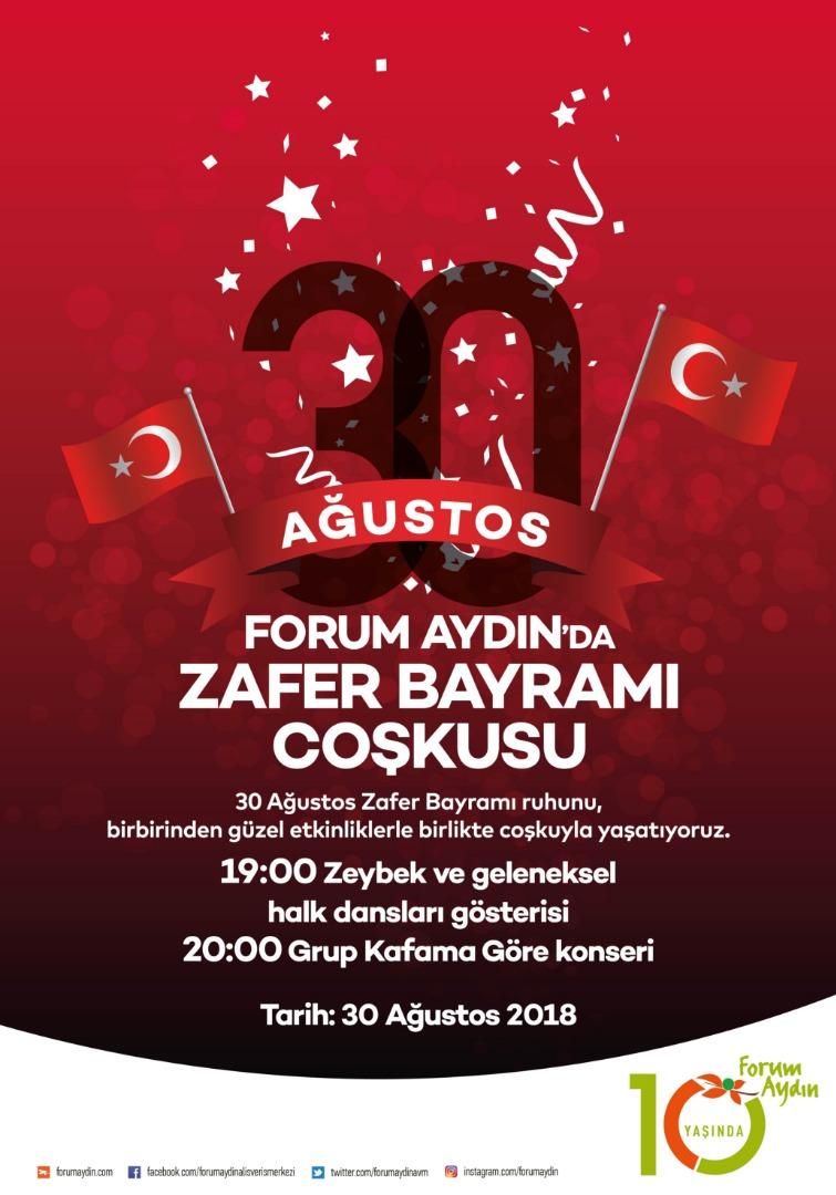Forum Aydın Zafer Bayramı için özel etkinlikler düzenleyecek