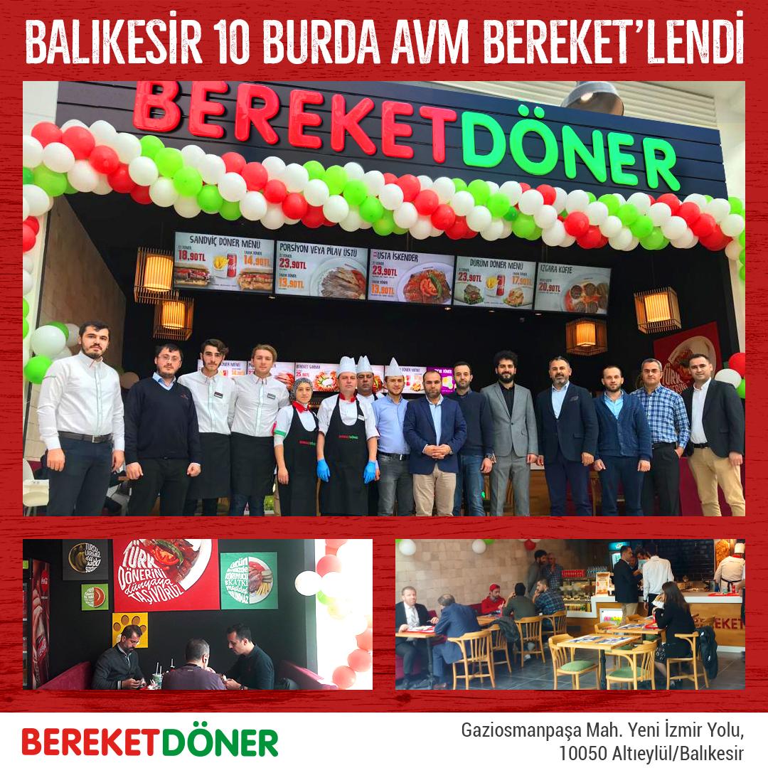 Bereket Döner Balıkesir'deki 2'nci şubesini açtı