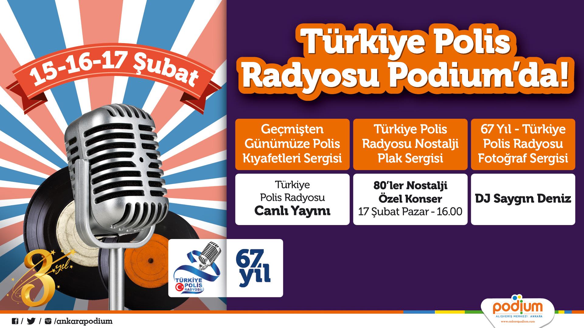 Türkiye Polis Radyosu'nun arşivi Podium Ankara'da sergilenecek