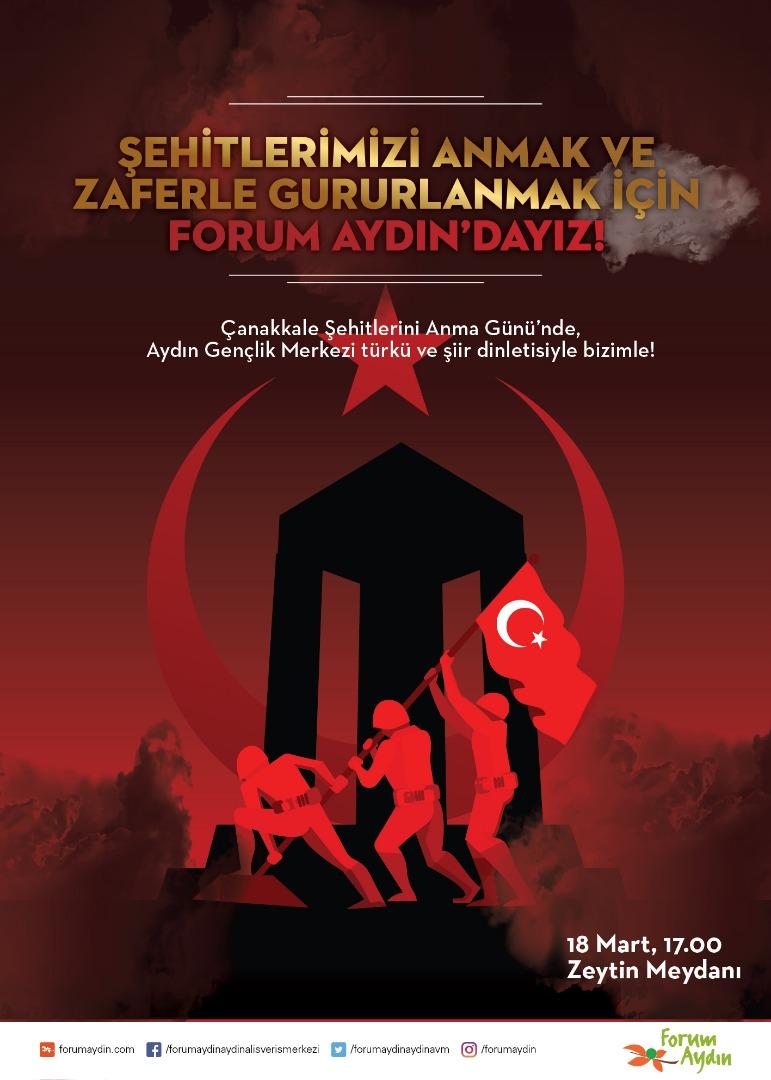 Forum Aydın Çanakkale Zaferi'ni özel programla kutlayacak