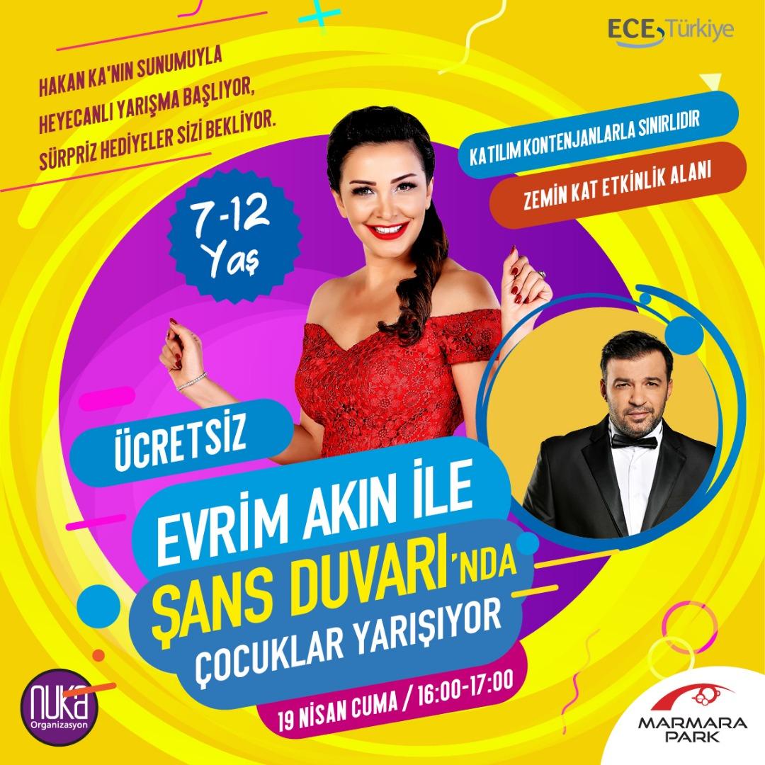 Marmara Park'ta minikler Evrim Akın'la buluşacak