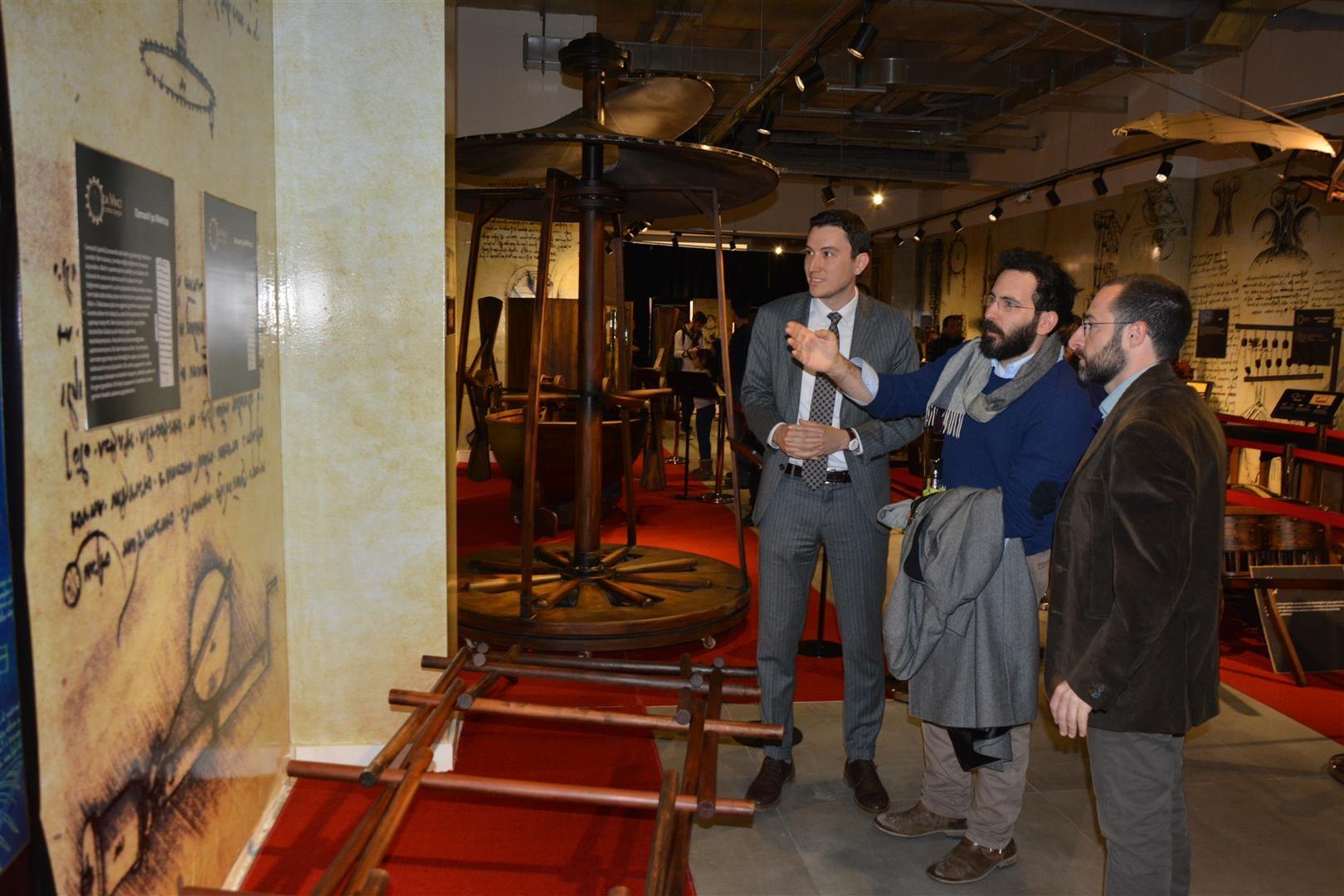 Da Vinci icatları MaviBahçe'de sergileniyor