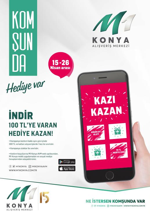 M1 Konya ziyaretçileri dijital bir kampanya düzenliyor