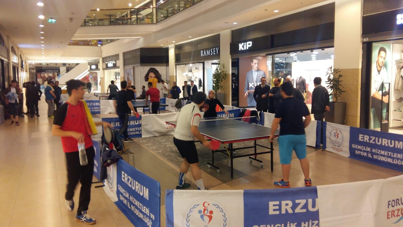 Forum Erzurum Masa Tenisi Turnuvası'nın kazananları belli oldu