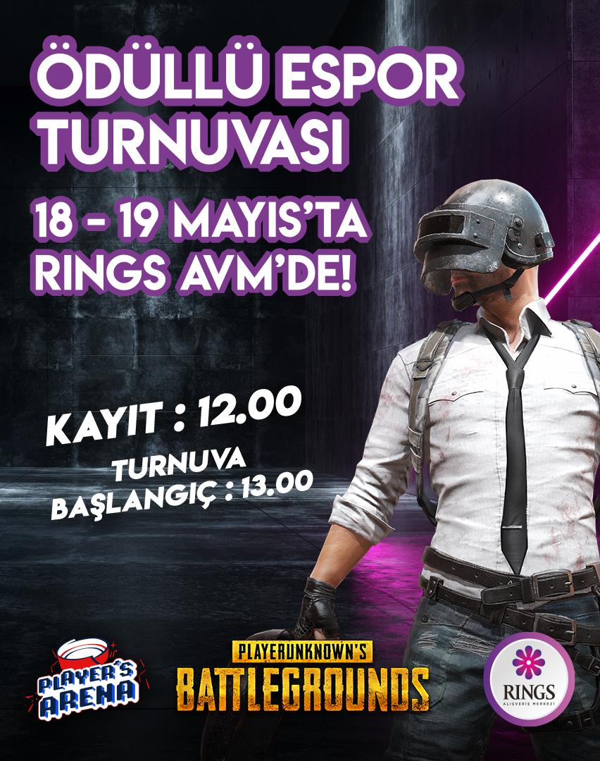 Ödüllü PUBG Turnuvası Rings AVM'de!