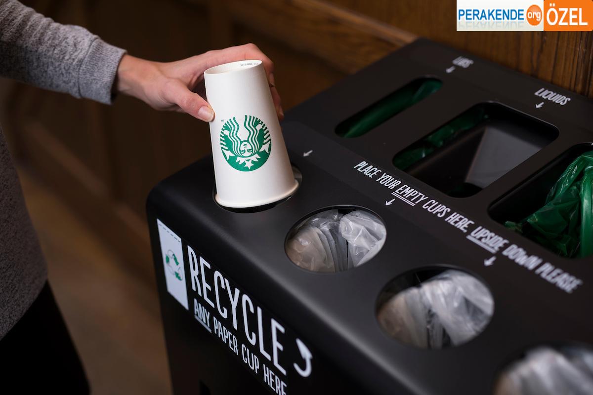 Starbucks fincanları artık doğada çözülebilir olacak!
