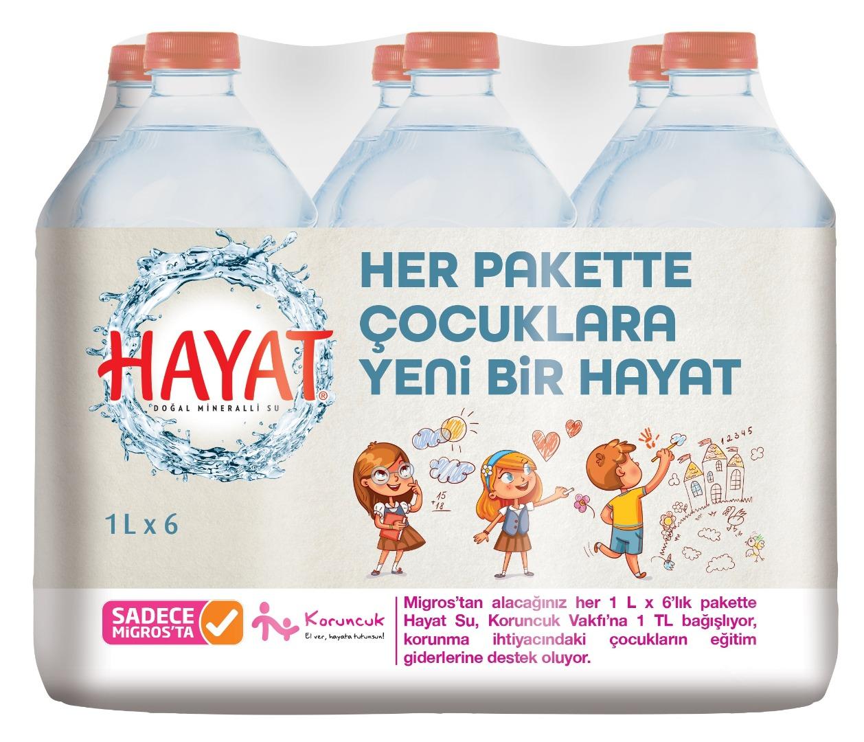 """Hayat su paketlerinde çocuklar için """"yeni bir hayat"""" var"""