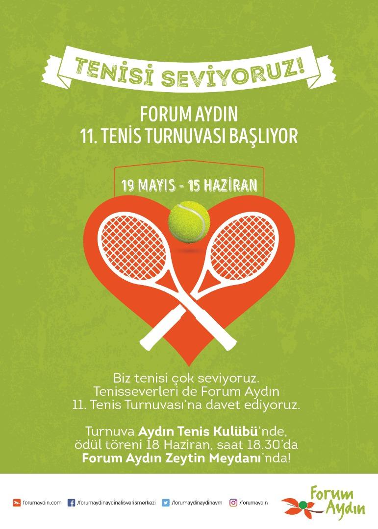 11'inci Forum Aydın Tenis Turnuvası başladı