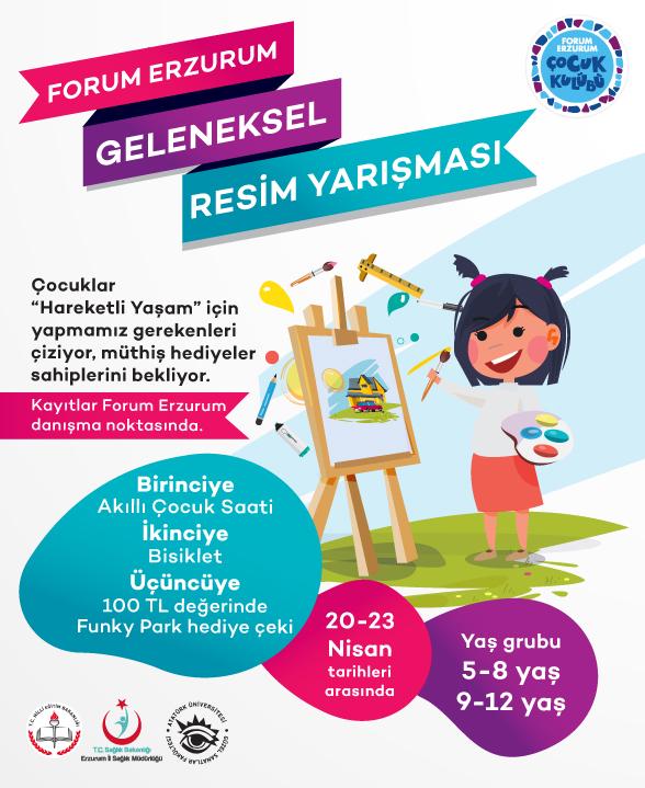 Forum Erzurum'un 23 Nisan resim yarışması başlıyor