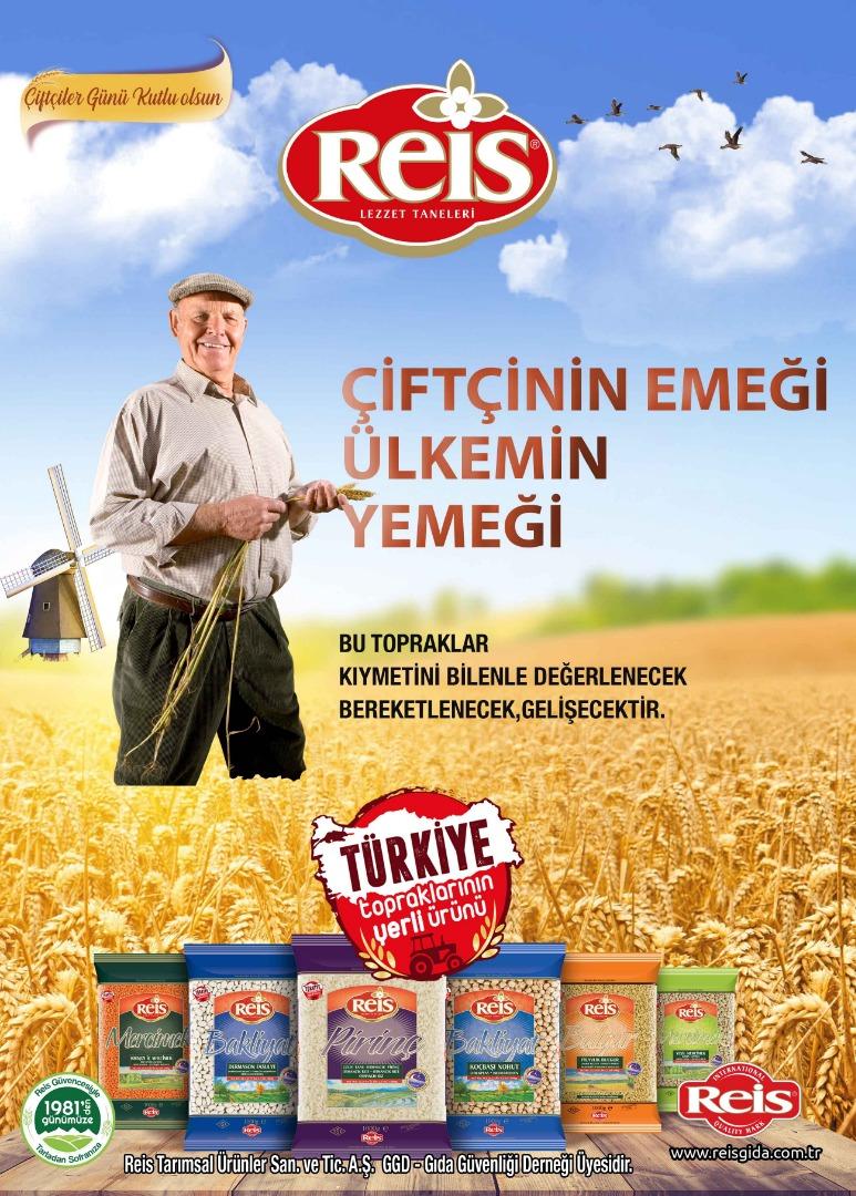 Reis Gıda Çiftçiler Günü'nde yerli üretime dikkat çekti