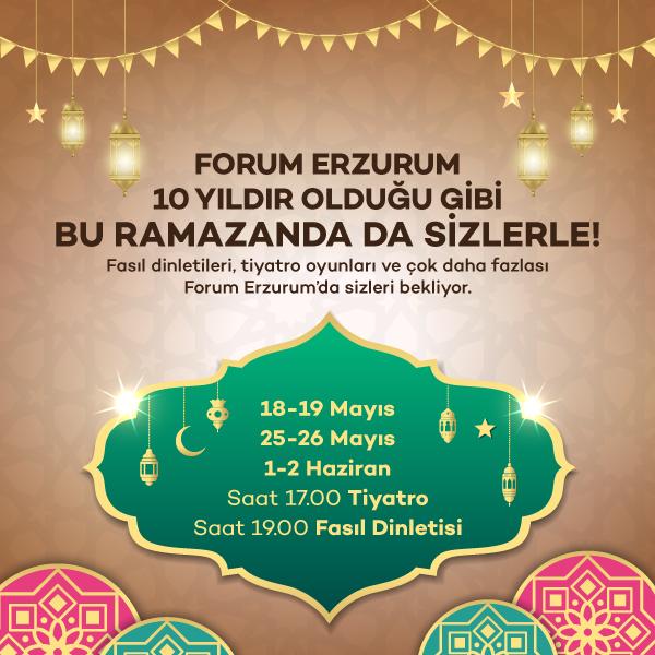 Forum Erzurum ziyaretçilerini fasıl dinletilerine davet ediyor