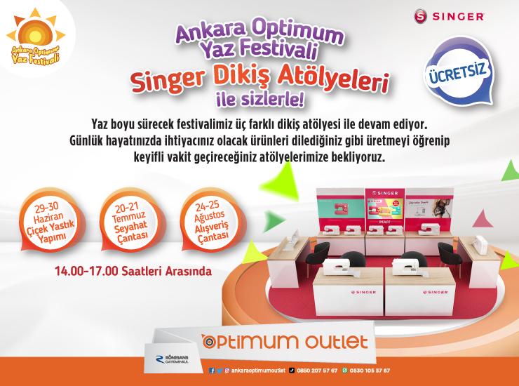 Ankara Optimum misafirleri dikiş atölyelerinde eğlenecek