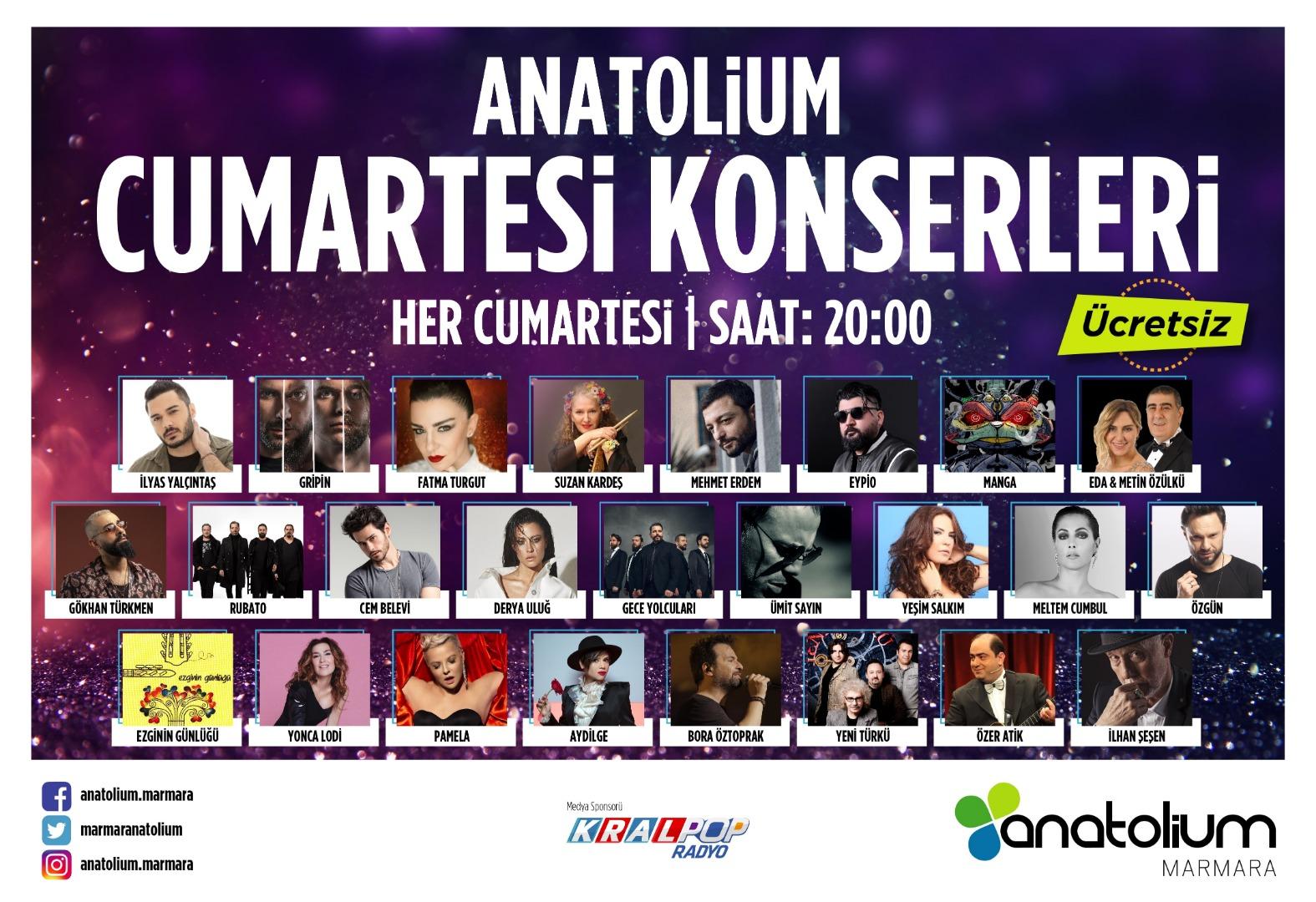 Anatolium Marmara İstanbul'u müziğe doyuracak