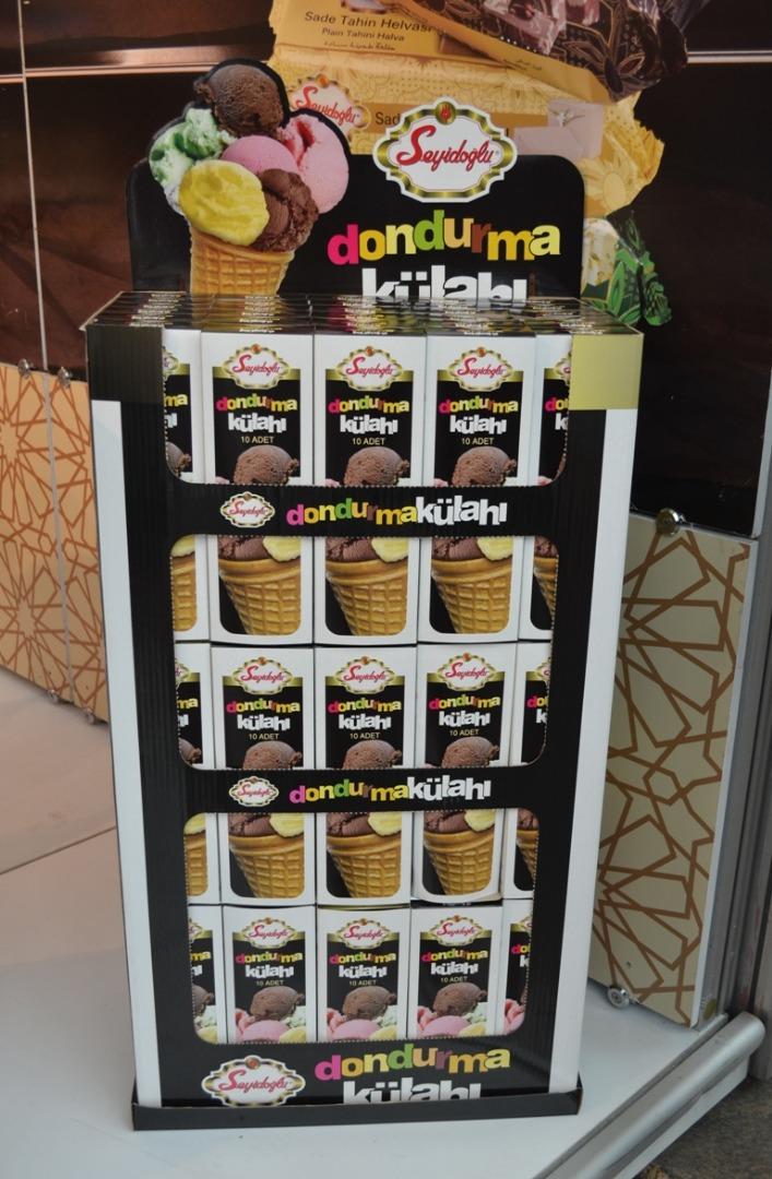 Seyidoğlu Gıda ürettiği dondurma külahlarıyla marketlerde