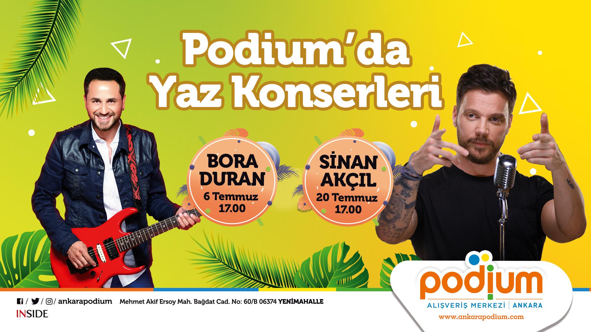 Bora Duran Podium'da sevenleriyle bir araya gelecek