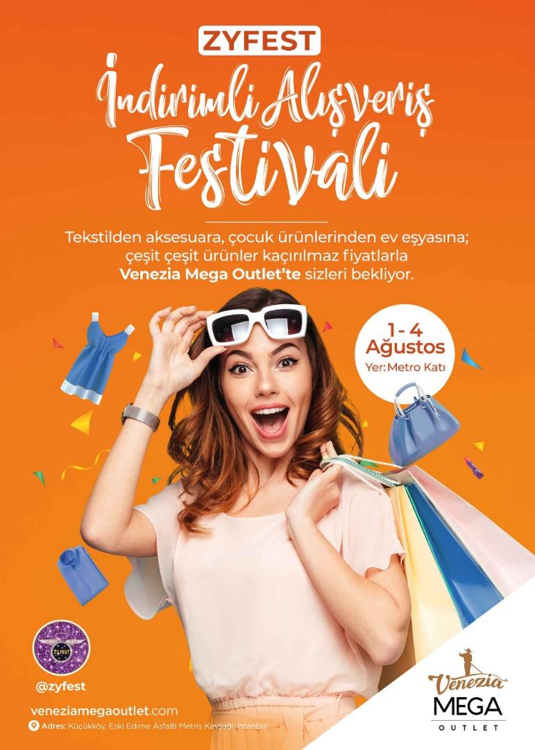 İndirim Festivali Venezia Mega Outlet ziyaretçileriyle buluşacak