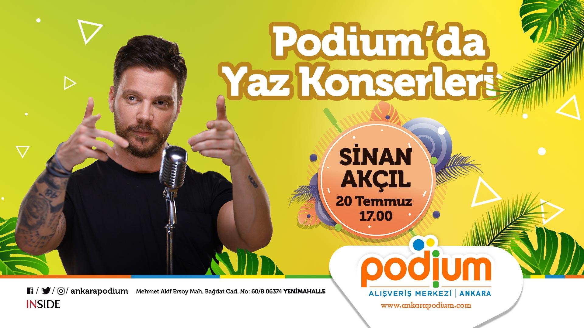 Podium Ankara yaz konserlerine Sinan Akçıl'la başlayacak